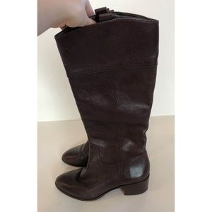 Louis Et Cie Brown Leather Knee High Boots Sz 7 B